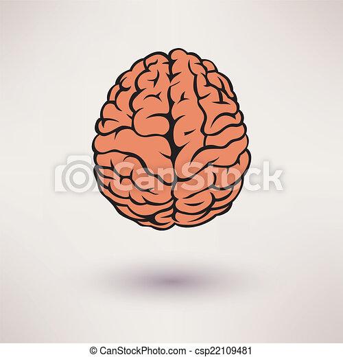 Brain icon. On the white background. Vector illustration. - csp22109481