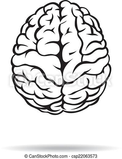 Brain icon. On the white background. Vector illustration. - csp22063573