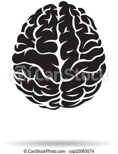Brain icon. On the white background. Vector illustration. - csp22063574