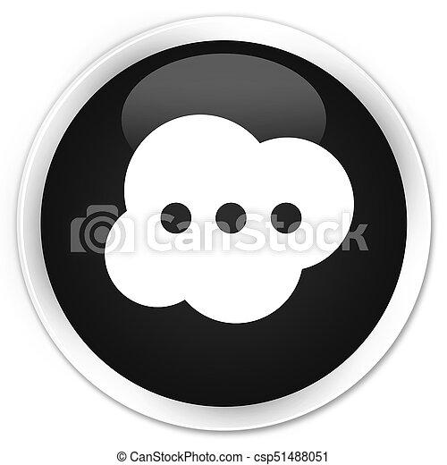 Brain icon premium black round button - csp51488051