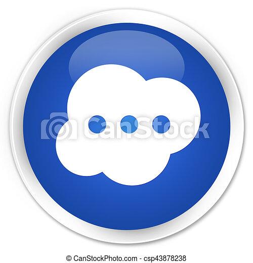 Brain icon premium blue round button - csp43878238