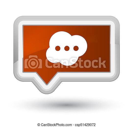 Brain icon prime brown banner button - csp51429072