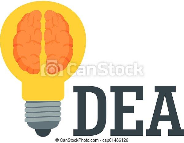 Brain idea logo, flat style - csp61486126