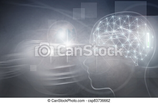 Brain implant, artificial intelligence - csp83736662