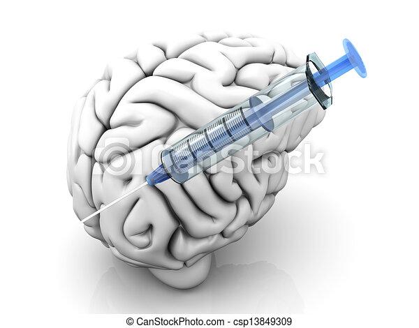 Brain Injection - csp13849309