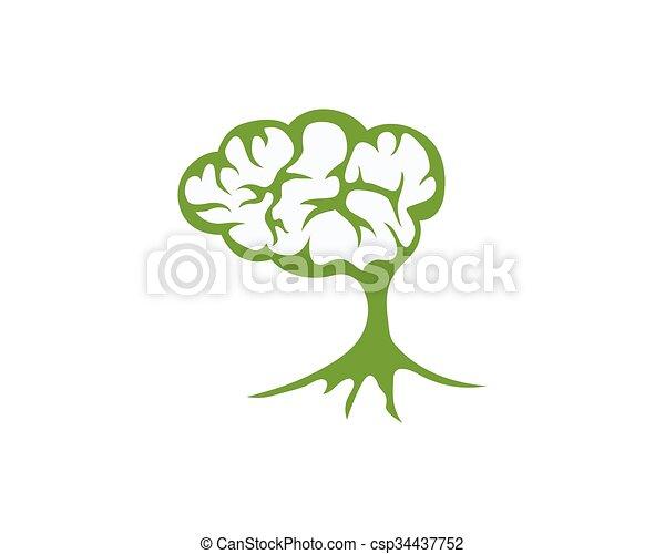 Brain Logo - csp34437752