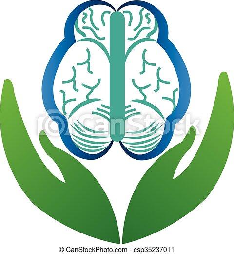 Brain logo - csp35237011