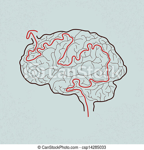 brain maze with correct path - csp14285033