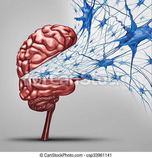 Brain Neurons Concept - csp33961141