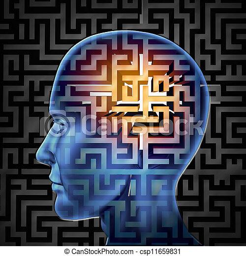 Brain Search - csp11659831