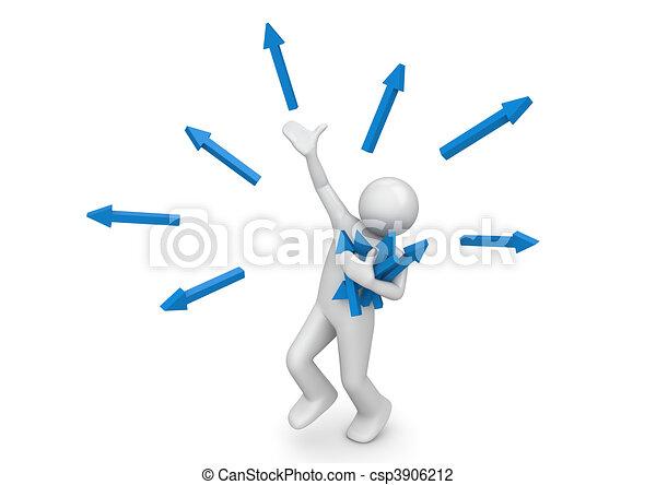 brain-storming, attraper, -, idées, nouveau - csp3906212