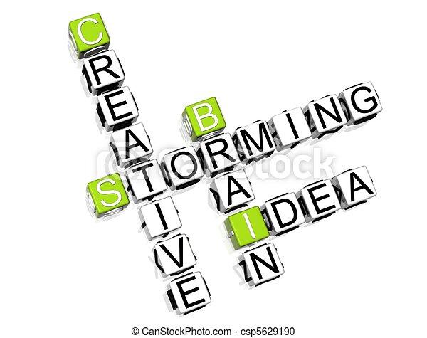 Brain Storming Crossword  - csp5629190