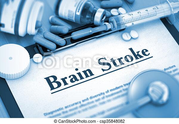 Brain Stroke Diagnosis. Medical Concept.  - csp35848082