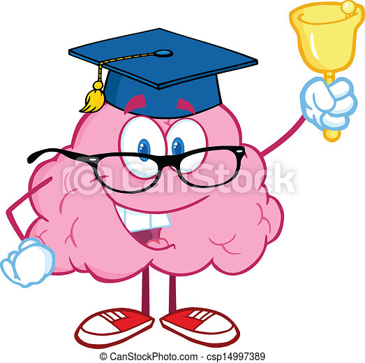 Brain Teacher Ringing A Bell - csp14997389