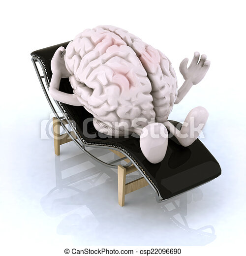 brain that rests on a chaise longue - csp22096690