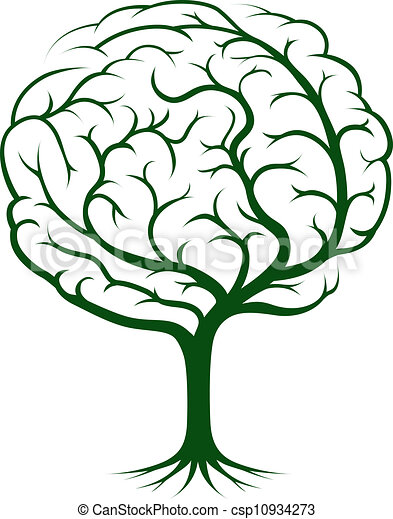 Brain tree illustration - csp10934273