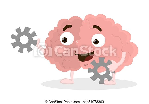 Brain with gears. - csp51978363