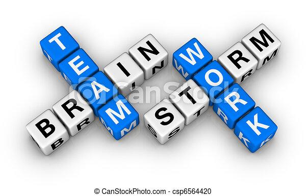 brainstorm and teamwork - csp6564420