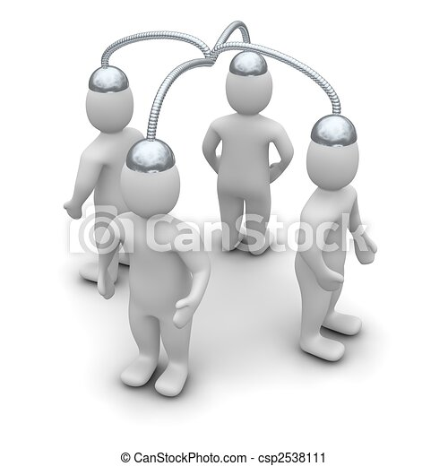Brainstorming. 3d rendered illustration isolated on white. - csp2538111
