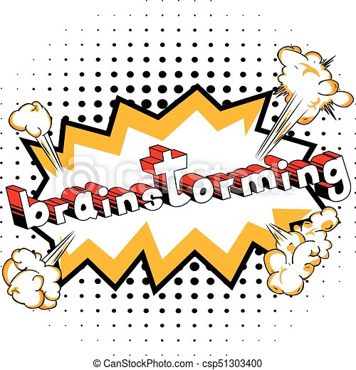 brainstorming comic book style word brainstorming comic book rh canstockphoto com  person brainstorming clipart