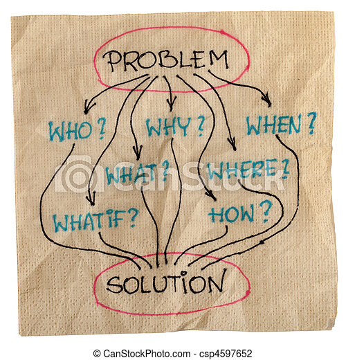 brainstorming for problem solution - csp4597652