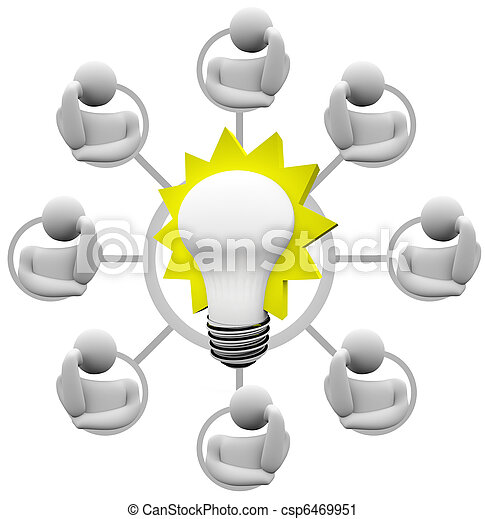 Brainstorming Solution to Problem Envision Light Bulb Idea - csp6469951