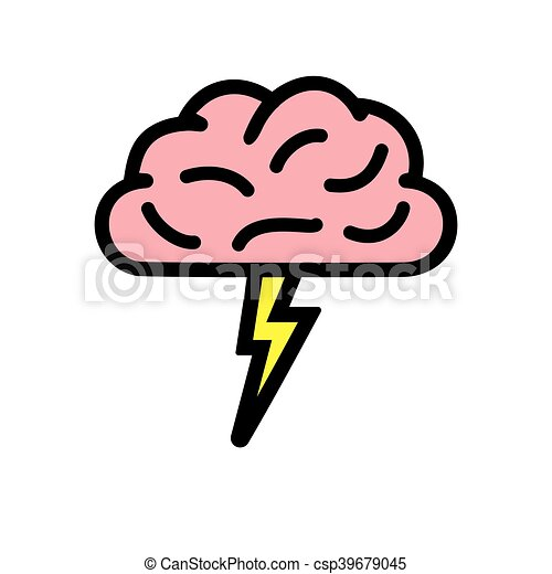brainstorming vector icon vector illustration of the eps vector rh canstockphoto ca person brainstorming clipart brainstorming clipart