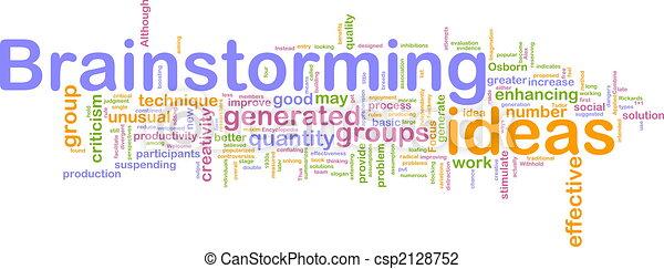 Brainstorming word cloud - csp2128752
