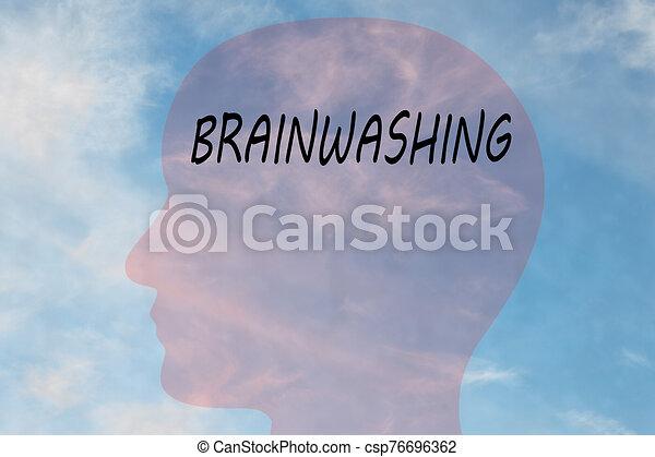 BRAINWASHING - persuasion concept - csp76696362