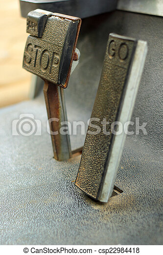 Brake and accelerator pedal for cars. - csp22984418