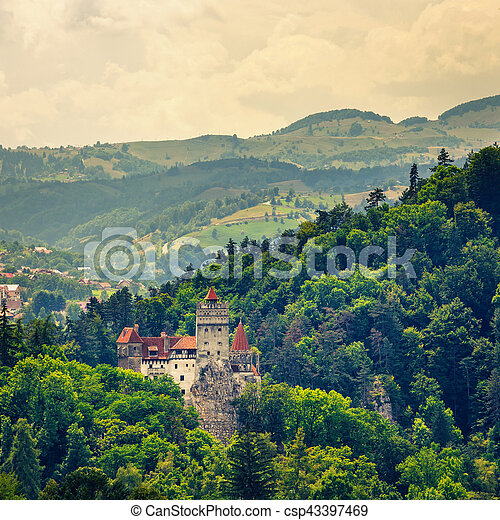 Bran Castle also known for the myth of Dracula, Romania - csp43397469