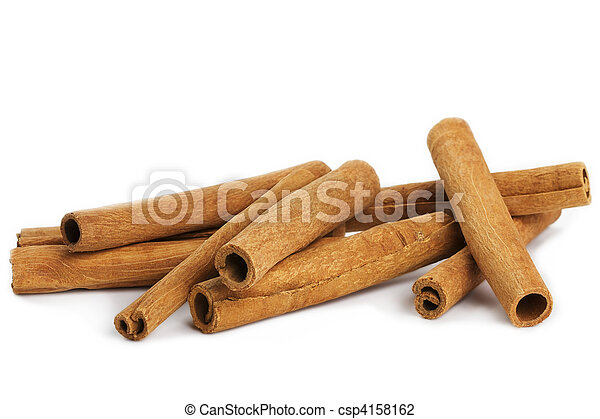 branca, algum, varas, fundo, canela - csp4158162