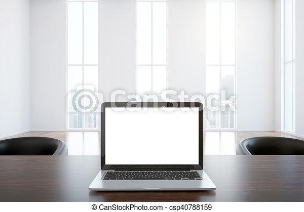 branca, closeup, laptop - csp40788159