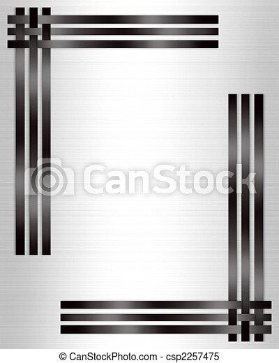 branca, formal, pretas, modelo, convite - csp2257475