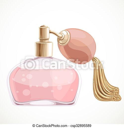 branca, isolado, fundo, perfume - csp32895589