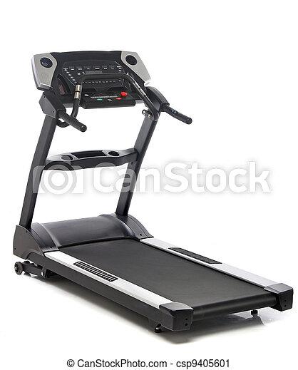 branca, isolado, fundo, treadmill - csp9405601