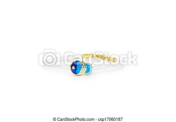 branca, moda, pulseira, fundo - csp17060187