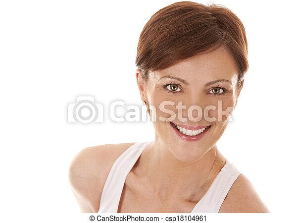 branca, mulher - csp18104961