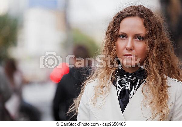 branca, mulher - csp9650465