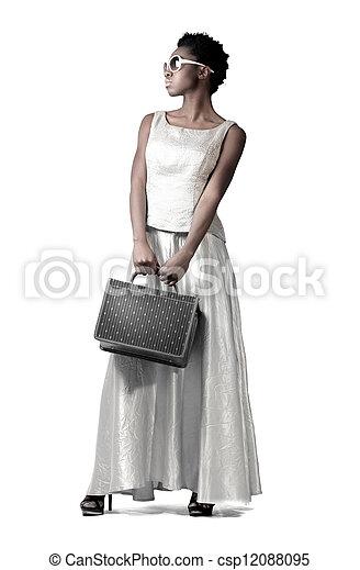 branca, mulher - csp12088095