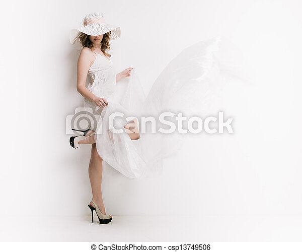 branca, mulher, loura - csp13749506