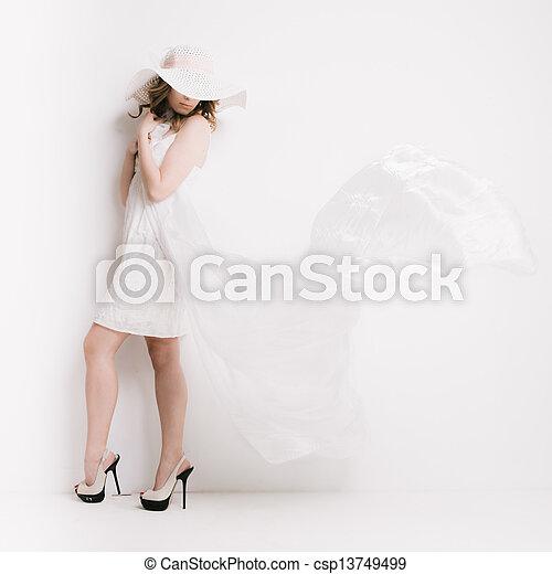 branca, mulher, loura - csp13749499