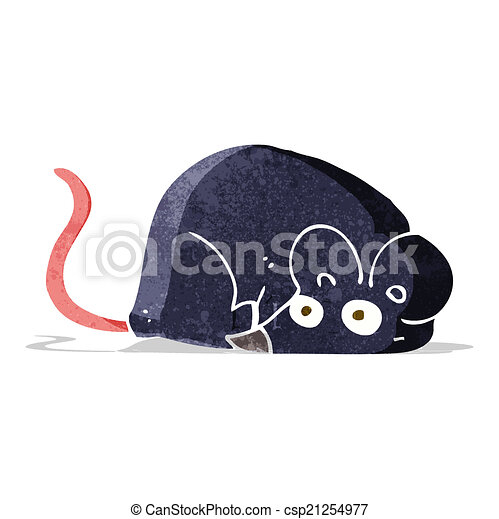 branca, rato, caricatura - csp21254977