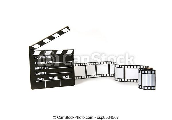 branca, ripa, película, fundo, faixa - csp0584567