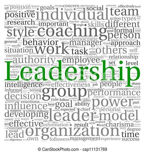 branca, tag, palavra, nuvem, liderança - csp11131769
