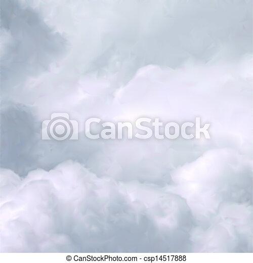 branca, vetorial, céu, clouds. - csp14517888