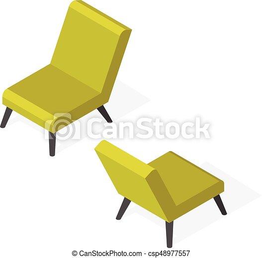 branché, isométrique, chaise, illustration - csp48977557