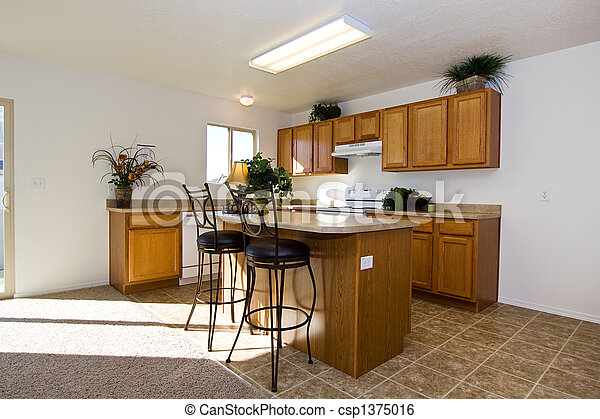 branché, moderne, cuisine - csp1375016