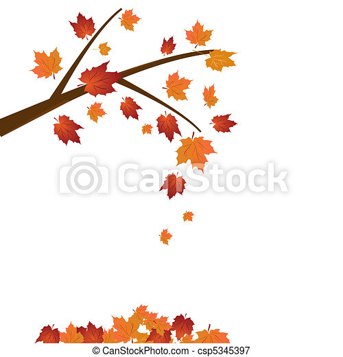branch of maple tree autumn leaf fall vector vectors illustration rh canstockphoto com maple tree images clip art maple tree clip art free