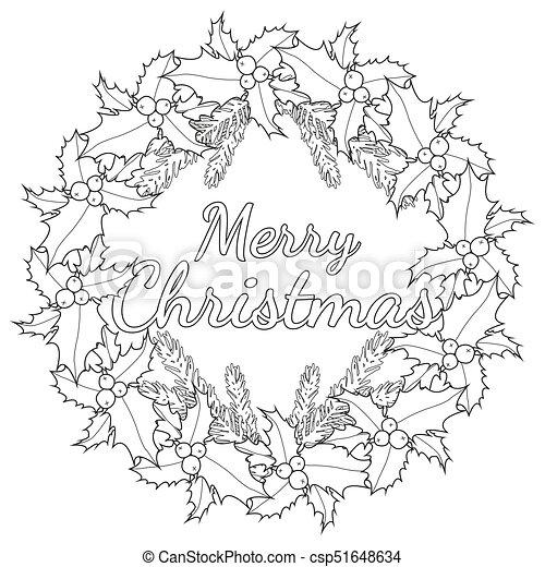 Branches Affiche Arbre Noir Joyeux Houx Blanc Baies Noël